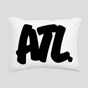 ATL Brushed W Rectangular Canvas Pillow