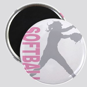 play softball a(blk) Magnet