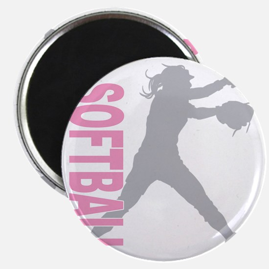 play softball a(blk) Magnet