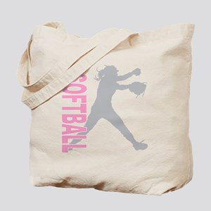 play softball a(blk) Tote Bag