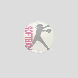 play softball a(blk) Mini Button