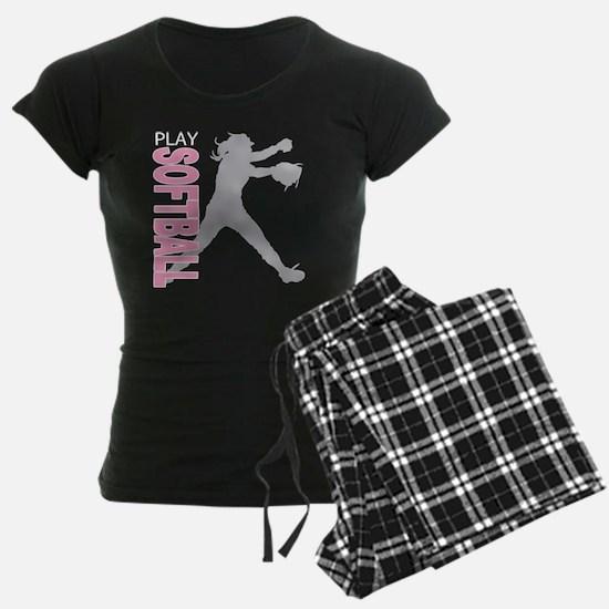 play softball a(blk) Pajamas