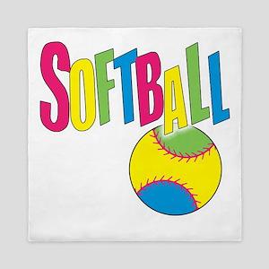 softball(blk) Queen Duvet