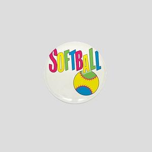 softball(blk) Mini Button