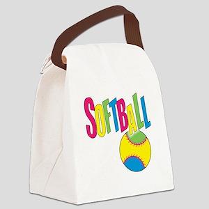 softball(blk) Canvas Lunch Bag