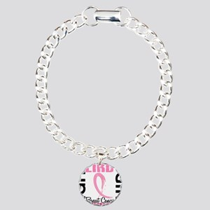 - Breast Cancer Fight Li Charm Bracelet, One Charm