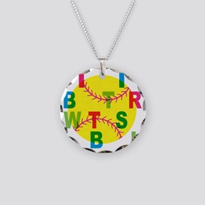 life is better a Necklace Circle Charm