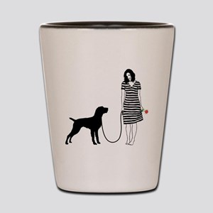 German-Wirehaired-Pointer11 Shot Glass