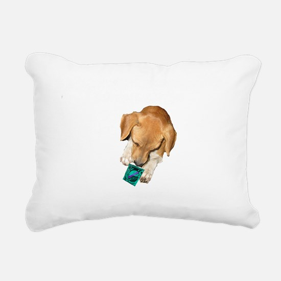 if you think a condom wh Rectangular Canvas Pillow