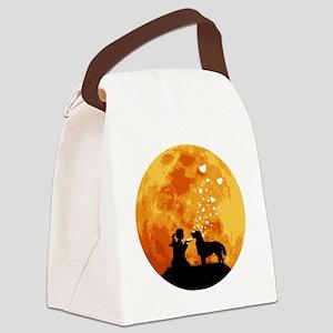 Flat-Coated-Retriever22 Canvas Lunch Bag