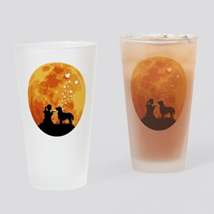 Flat-Coated-Retriever22 Drinking Glass