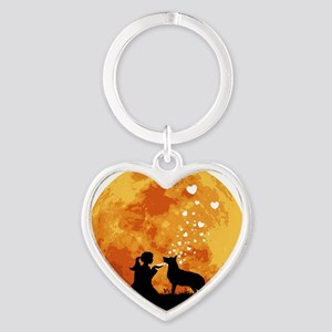 German-Shepherd22 Heart Keychain