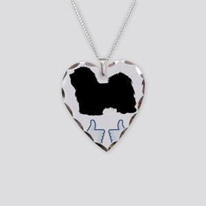 Havanese07 Necklace Heart Charm