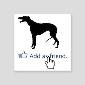 "Greyhound13 Square Sticker 3"" x 3"""