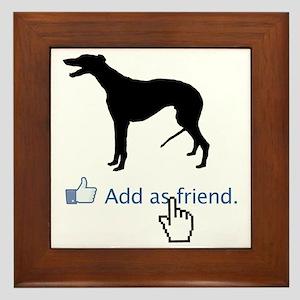 Greyhound13 Framed Tile