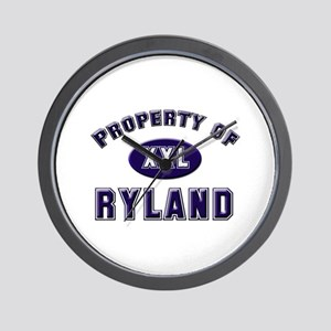 Property of ryland Wall Clock