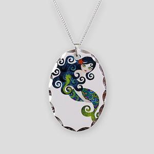 aquamarine1 Necklace Oval Charm