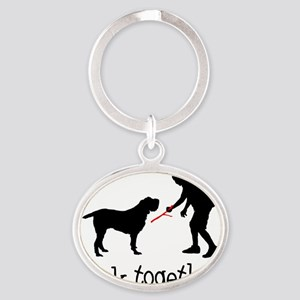 Spinone-Italiano05 Oval Keychain
