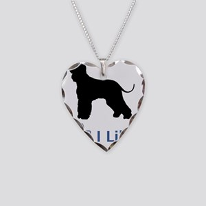 Irish-Water-Spaniel01 Necklace Heart Charm