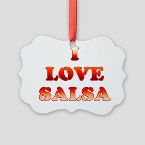 I LOVE SALSA 17 Picture Ornament