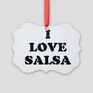 I LOVE SALSA 18 Picture Ornament