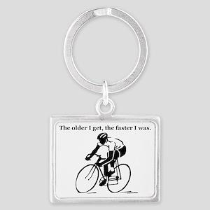 olderfasterbike2 Landscape Keychain