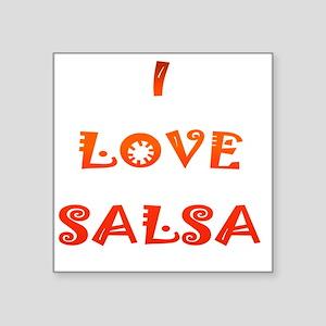 "I LOVE SALSA JK  004 Square Sticker 3"" x 3"""