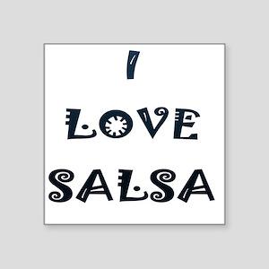 "I LOVE SALSA JK  002 Square Sticker 3"" x 3"""