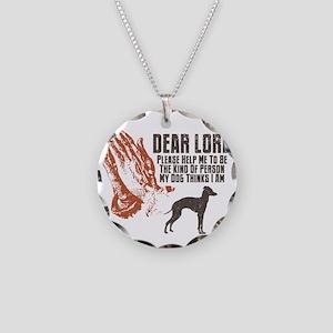 Italian-Greyhound19 Necklace Circle Charm