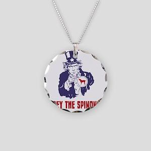 Spinone-Italiano18 Necklace Circle Charm