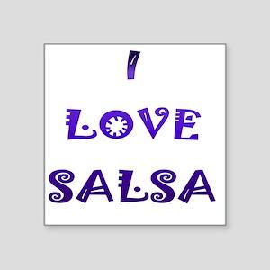 "I LOVE SALSA JK  003 Square Sticker 3"" x 3"""