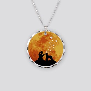 Irish-Water-Spaniel22 Necklace Circle Charm