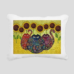 2-gatos Rectangular Canvas Pillow