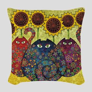 2-gatos Woven Throw Pillow