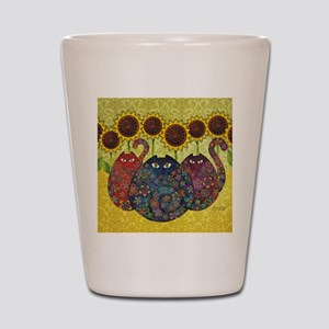 2-gatos Shot Glass