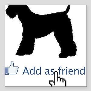 "Kerry-Blue-Terrier13 Square Car Magnet 3"" x 3"""