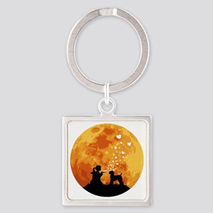 Kerry-Blue-Terrier22 Square Keychain