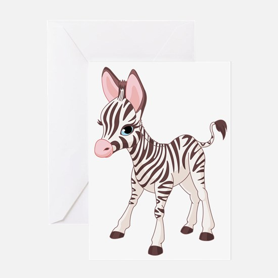 b2_zebra_02 Greeting Card