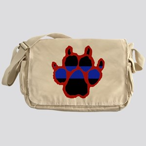 Red Paw FRONT AND BACK 10x10_apparel Messenger Bag
