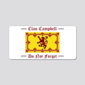 Campbell Aluminum License Plate