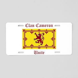 Cameron Aluminum License Plate
