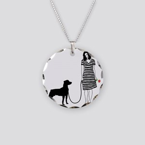 Mountain-Cur11 Necklace Circle Charm