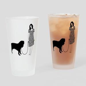 Neapolitan-Mastiff11 Drinking Glass
