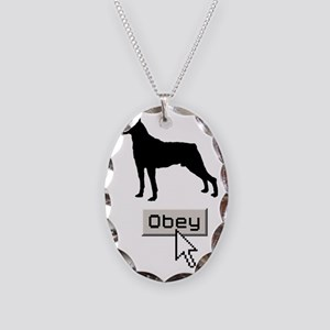 Mountain-Cur15 Necklace Oval Charm