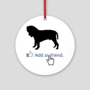 Neapolitan-Mastiff13 Round Ornament