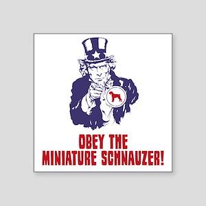 "Miniature-Schnauzer18 Square Sticker 3"" x 3"""