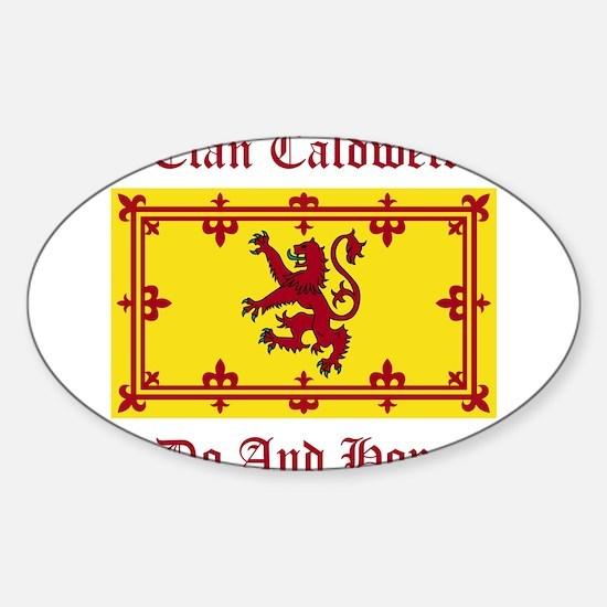 Caldwell Sticker (Oval)