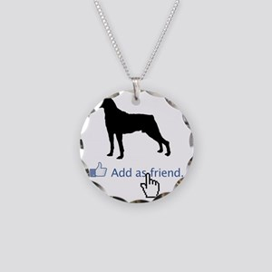 Mountain-Cur13 Necklace Circle Charm