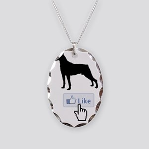 Mountain-Cur20 Necklace Oval Charm