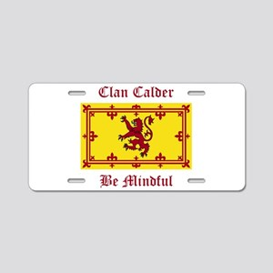 Calder Aluminum License Plate